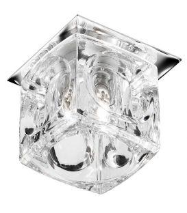 Įmontuojamas šviestuvas Clear Ice Cube Glass 5159CC