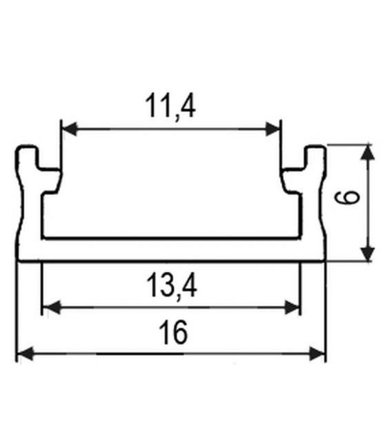 Aliuminio profilis PROF-RAL-SUR paviršinis