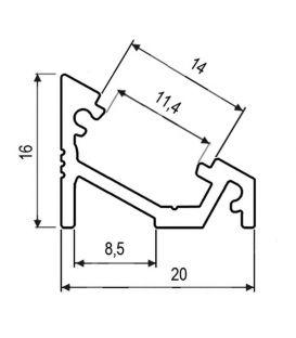 Aliuminio profilis PROF-RAL-COR paviršinis