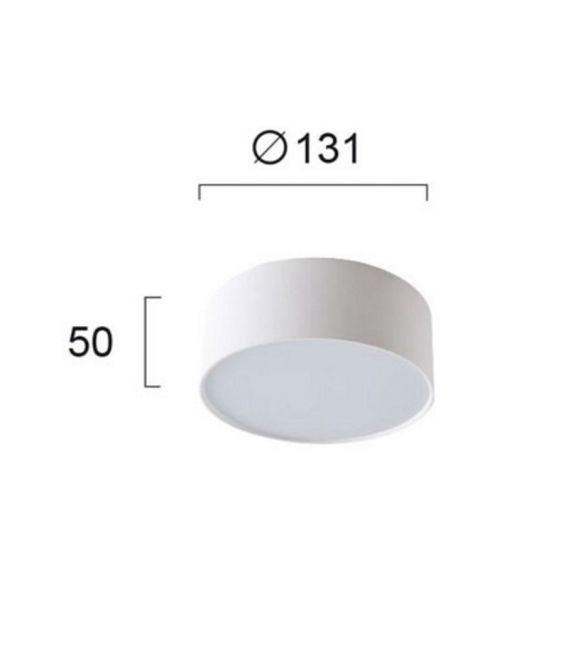 Lubinis šviestuvas JAXON White Ø13,1