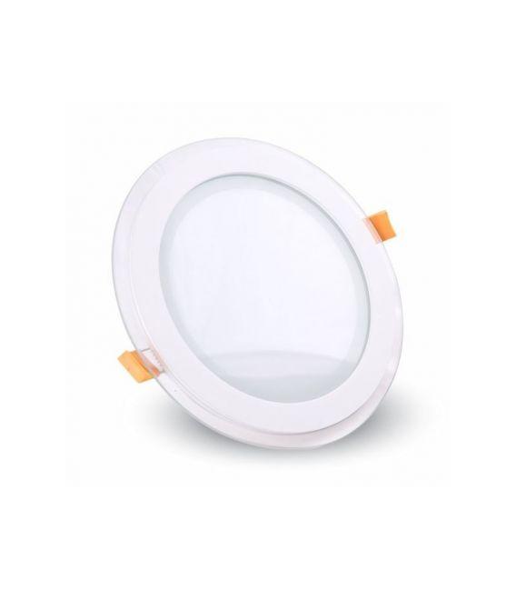 Įmontuojama LED panelė 6W, apvali, stiklinė