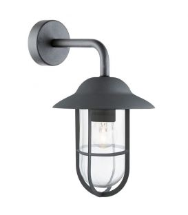 Sieninis šviestuvas WELL GLASS LANTERNS Black IP44 3291BK