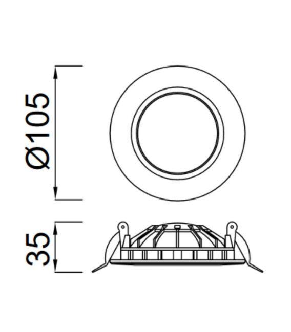 Įmontuojama LED PANELĖ CABRERA 6W [EPISTAR]