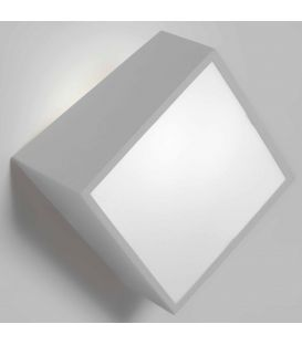 Sieninis šviestuvas MINI Square Silver