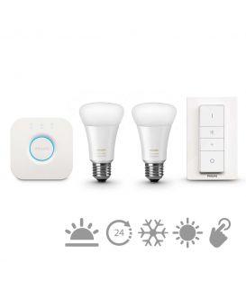 Philips HUE LED (valdiklis + jungiklis + 2 E27 lempos) 871869672892