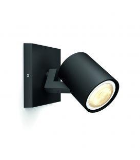 Sieninis šviestuvas RUNNER HUE LED Black + jungiklis 871869615934