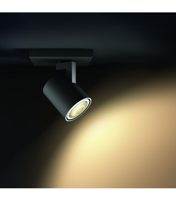 Sieninis šviestuvas RUNNER HUE Black