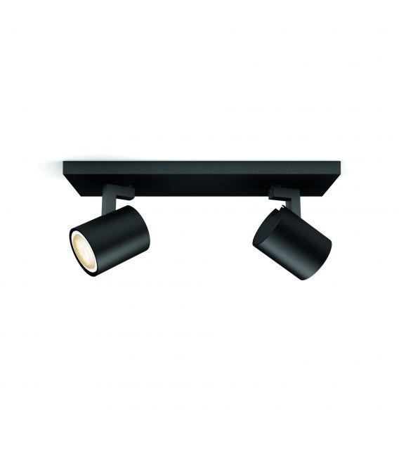 Lubinis šviestuvas RUNNER HUE 2 Black + jungiklis