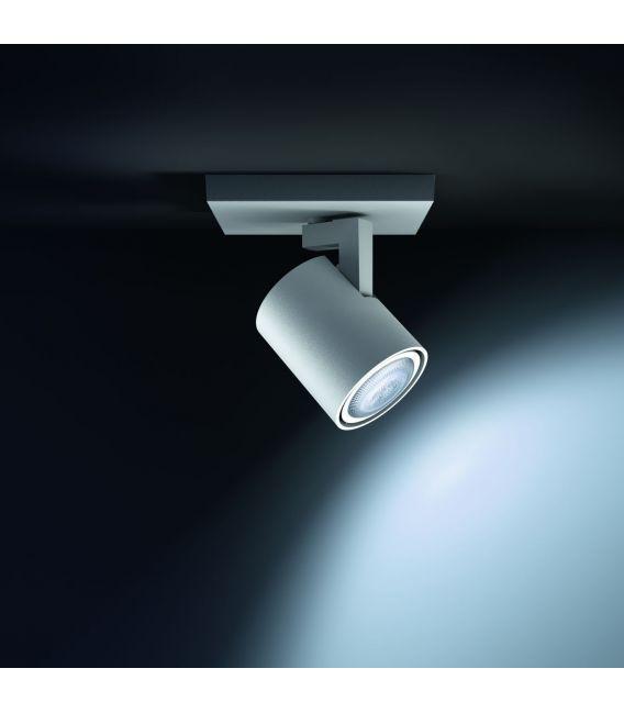 Sieninis šviestuvas RUNNER HUE White + jungiklis