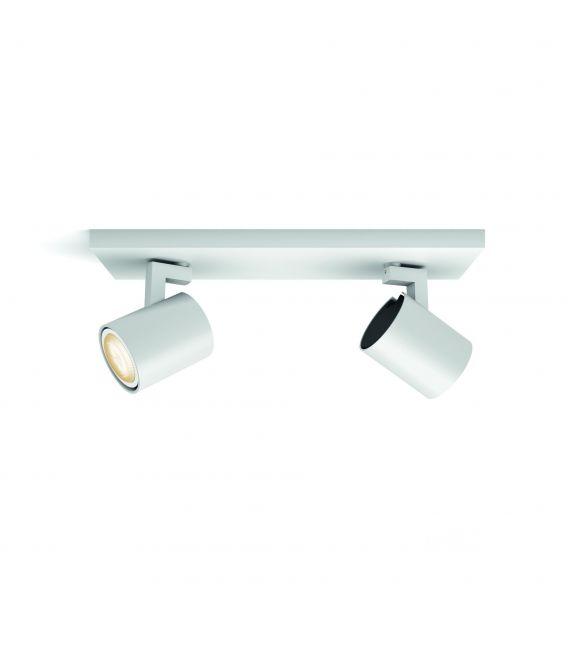 Lubinis šviestuvas RUNNER HUE 2 White + jungiklis