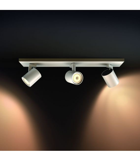 Lubinis šviestuvas RUNNER HUE 3 White + jungiklis