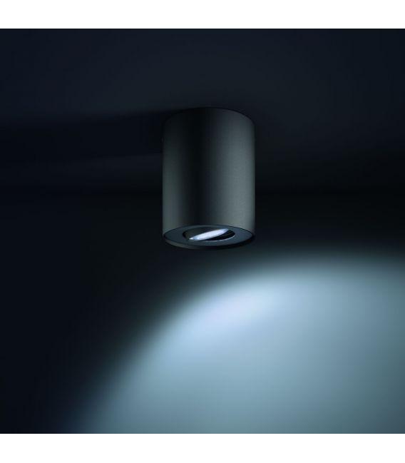 Lubinis šviestuvas PILLAR HUE Black + jungiklis
