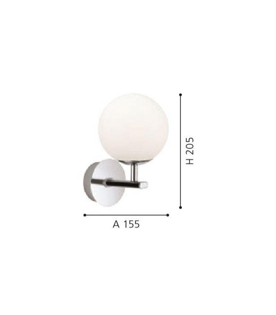 Sieninis šviestuvas PALERMO 2,5W