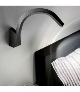 Sieninis šviestuvas SNAKE Black