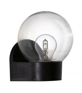 Sieninis šviestuvas LORMES Black IP44 96584