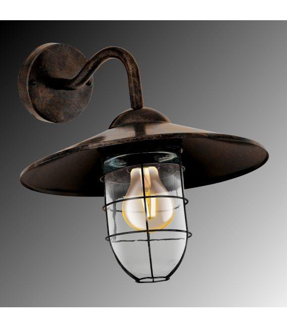 Sieninis šviestuvas COLINDRES Copper-antique