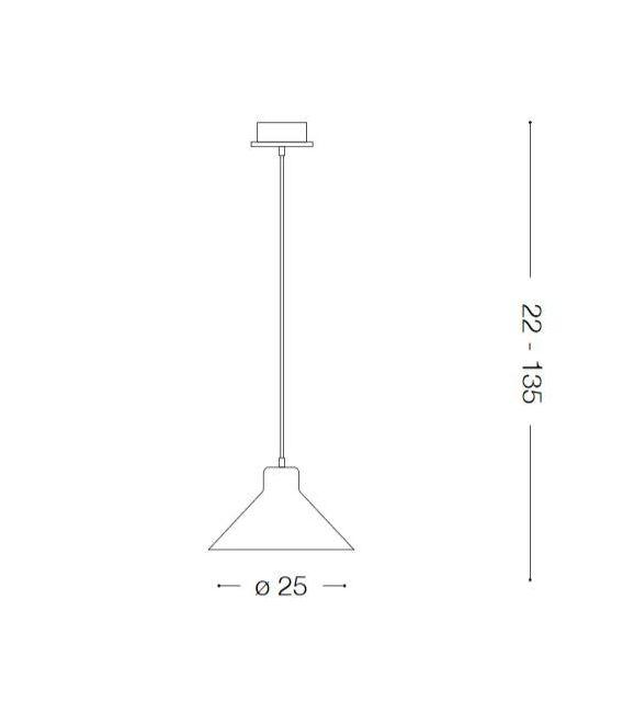 Pakabinamas šviestuvas OIL-6 SP1 Cemento