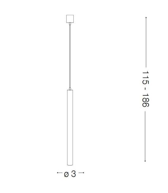 Pakabinamas šviestuvas ULTRATHIN SP1 Bianco