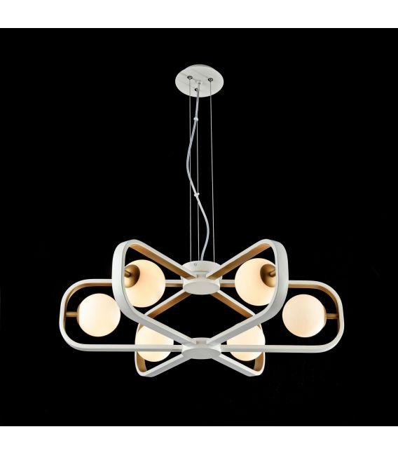 Pakabinamas šviestuvas AVOLA 6 Gold MOD431-PL-06-WG