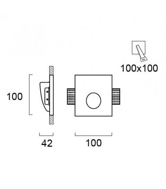Įmontuojamas gipsinis šviestuvas ASTER 4097200