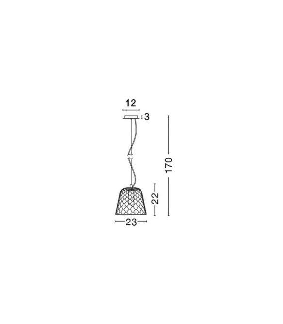 Pakabinamas šviestuvas VETRO Clear Ø23 42068001