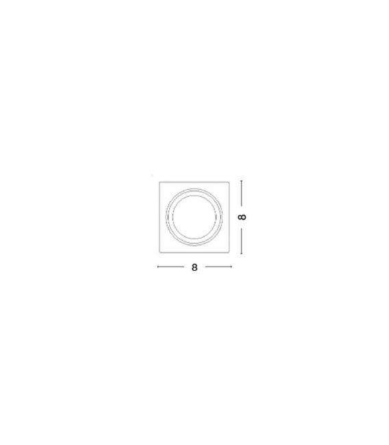 Įmontuojamas gipsinis šviestuvas TOBIA 8x8 7100481
