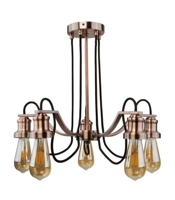 Pakabinamas šviestuvas OLIVIA 5 Copper 1065-5CU