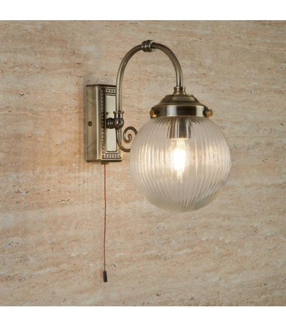 Sieninis šviestuvas BELVUE Antique Brass IP44 3259AB