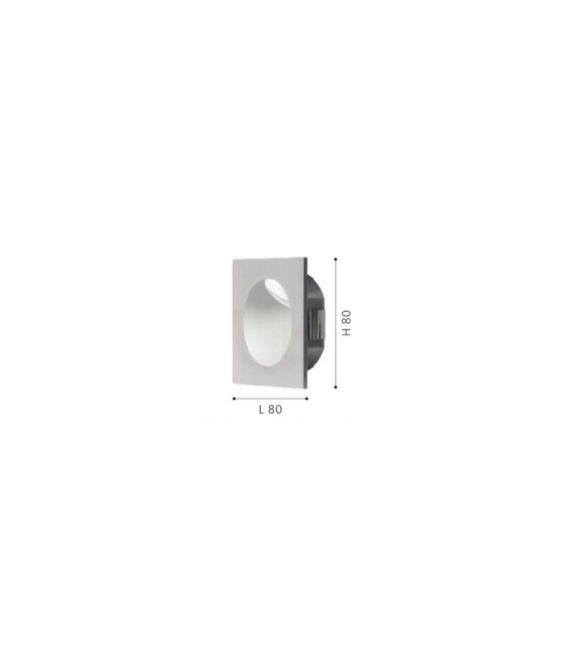 Įmontuojamas šviestuvas ZARATE LED Silver 96902