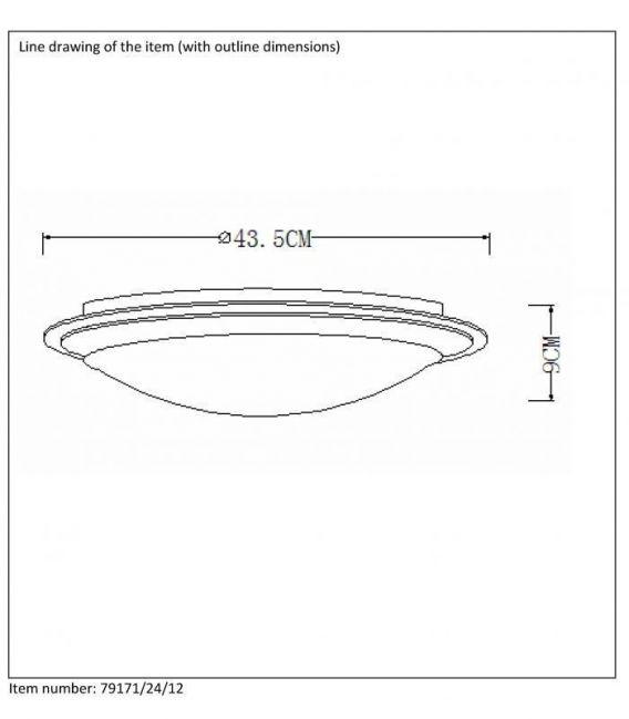 Lubinis šviestuvas GENTLY LED Ø43,5 IP21 79171/24/12