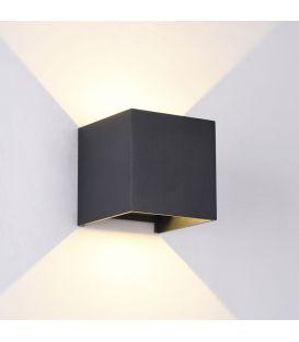 Sieninis šviestuvas FULTON LED IP54 Square Black O572WL-L6B