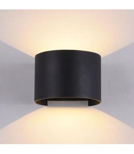 Sieninis šviestuvas FULTON LED IP54 Round Black O573WL-L6B