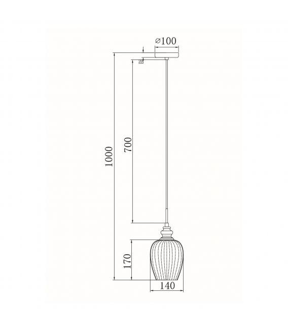 Pakabinamas šviestuvas BLUES Transparent MOD044-PL-01-N