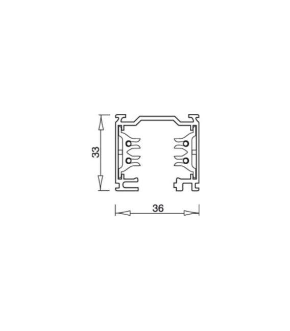 Bėgelis LKM Square 2 White 7511-20-31
