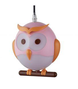 Pakabinamas šviestuvas OWL Pink 0113PI