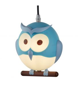 Pakabinamas šviestuvas OWL Blue 0113BL