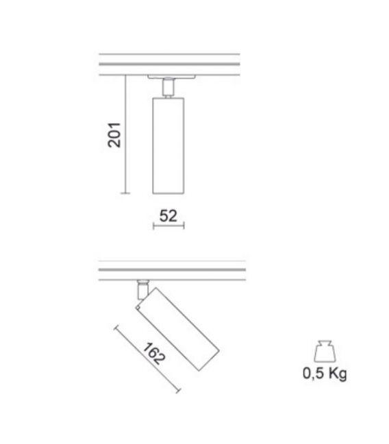 Apšvietimo sistema MINIPERFETTO MM White 748-159-21