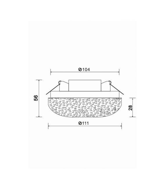Įmontuojamas šviestuvas PLASTIC LED White Perforation DL296-6-6W-W