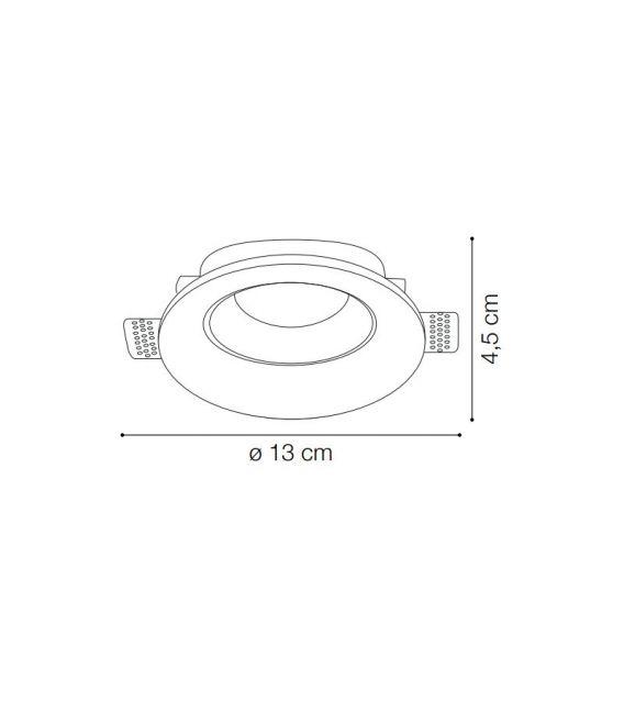 Įmontuojamas gipsinis šviestuvas SAMBA FI1 Round Medium 150130