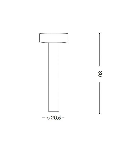 Pastatomas šviestuvas TESLA PT4 Big Bianco H80 153179