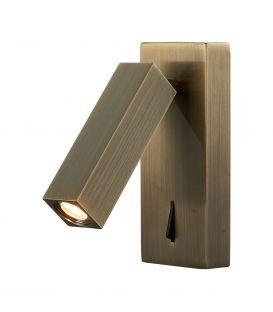 Sieninis šviestuvas TARIFA LED Antique Brass 6072