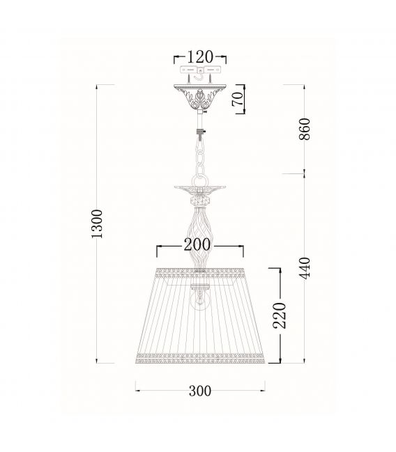 Pakabinamas šviestuvas GRACE ARM247-PL-01-G