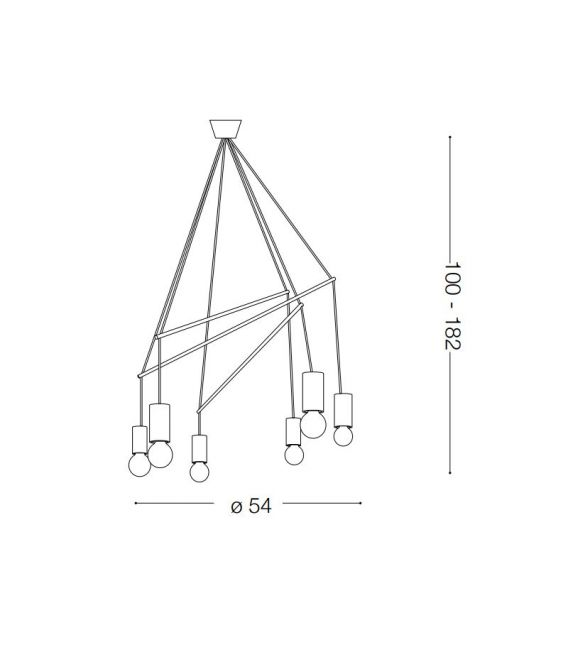 Pakabinamas šviestuvas POP SP6 Nero 158860