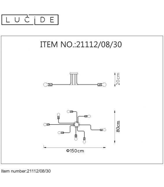 Lubinis šviestuvas LESTER 8 21112/08/30