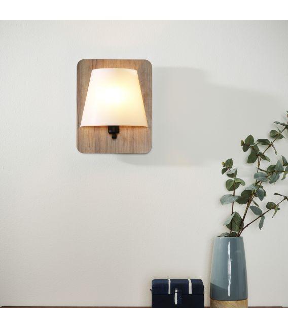 Sieninis šviestuvas IDAHO Dark wood 77281/01/70