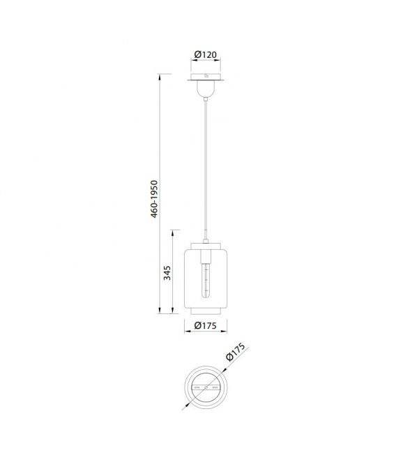 Pakabinamas šviestuvas JARRAS Ø17,5 Small Graphite 6200