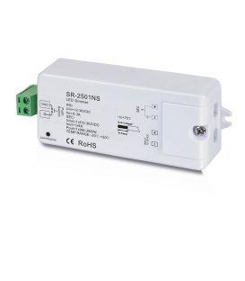 LED juostų valdymo sistemos imtuvas 12-36V 1x8A 1 spalva SR-2501NS