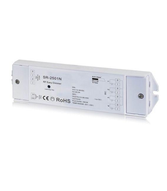 LED juostų valdymo sistemos imtuvas 12-36V 4x5A 1 spalva SR-2501N