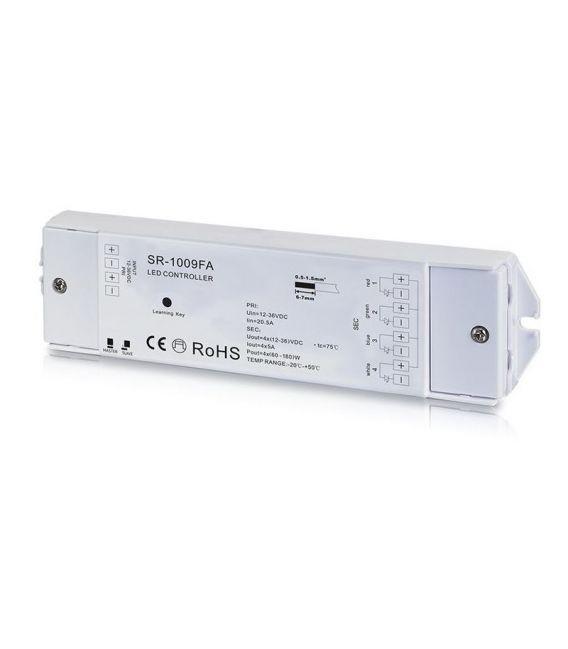 LED juostų daugiafunkcinio valdymo sistemos imtuvas 12-36V 4x5A SR-1009FA