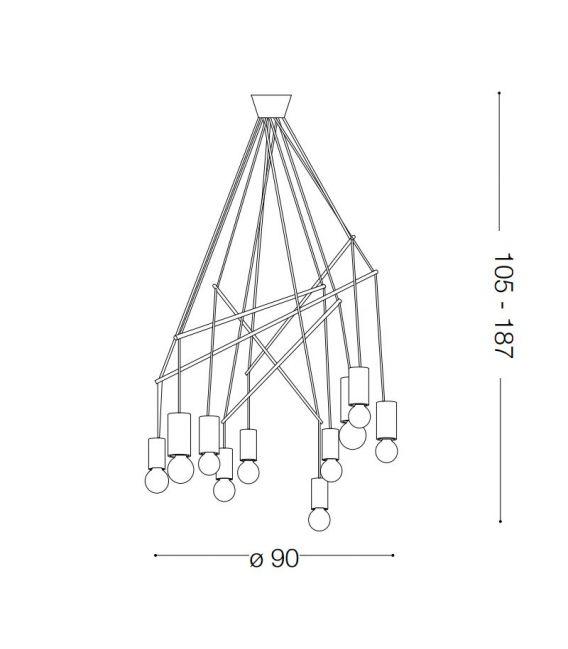 Pakabinamas šviestuvas POP SP10 Nero 158860